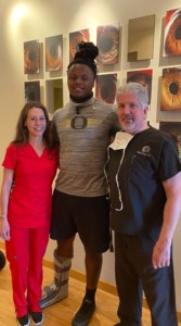 Deonte Johnson with Dr. Haines